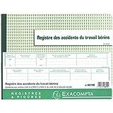 Exacompta - 6619E - Piqûre 24/32 - Registre des Accidents du Travail Bénins - 20 Pages
