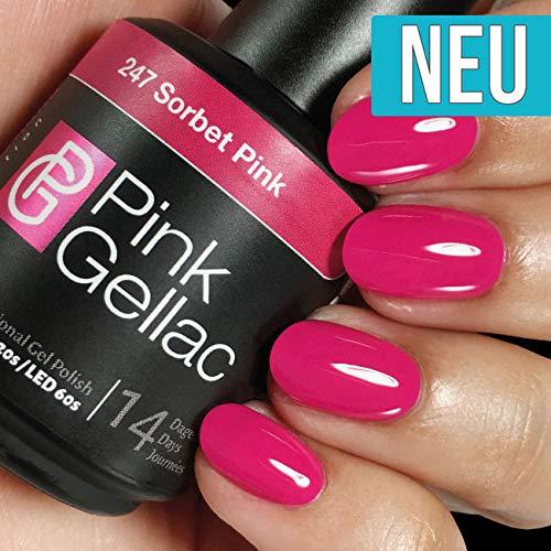 Pink Gellac 247 Sorbet Pink Shellac UV/LED Gel Nagellack 15ml Nail Polish