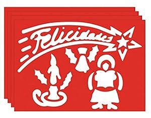Guirma- Bolsa de 2 plantillas de Navidad (Guirca 37771.0)