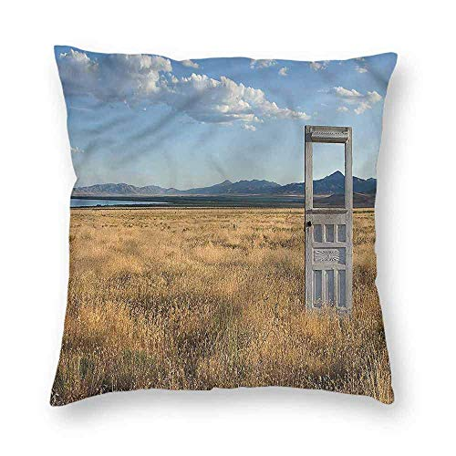 Dress rei Antique Square Form Decorative Pillow Field with Mountains Sofa or Bed Set 18x18 Inch -