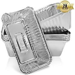 Lot de 20 moules à pain jetables en aluminium 0,9 kg, pour la cuisson du pain, la cuisson, la congélation et le stockage, 218 mm x 115 mm x 60 mm