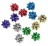 La collection Cottage décoratif métallique papier cadeau nœuds–6couleurs pour toutes les occasions 9cm, 12Noeuds (2de chaque 6couleurs) par la collection Cottage