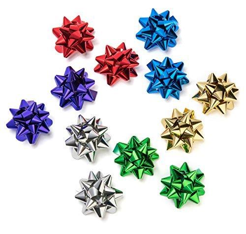 Dekorative Metallic Geschenk Einwickel-Bögen: Sechs verschiedene Farben für Alle Anlässe - 12 Breite 9 cm - Bögen in Aufbewahrungsbox - 2 in Jeder Farbe - für Geschenkverpackung