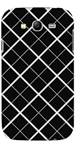 URBAN KOLOURS Original Designer Printed Clear Case Back Cover for Samsung Galaxy Grand Neo (Black Cubes -Clear)