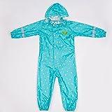 GAODUZI Enfants Imperméables Pantalons de pluie Costumes, Garçons et filles Siamois Raincoat Élèves Fashion Body Raincoat ( Couleur : Vert clair )