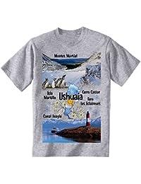 teesquare1st Argentina Ushuaia Camiseta Gris para Hombre de Algodon