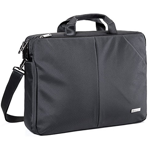 Laptop Borsa Messaggero, Evecase Impermeabile Custodia Messenger per Computer, PC, Notebook, Computer Portatile, Ultrabook, Chromebook fino alle 17.3 Pollici - Nero