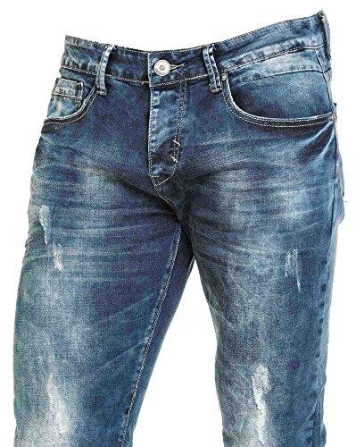 BLZ jeans - Fashion Jeans getragen verblasste blau Mann Blau