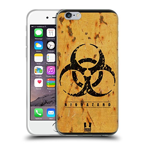 Head Case Designs Biohazard Assortiti Cover Morbida In Gel Per Apple iPhone 6 / 6s