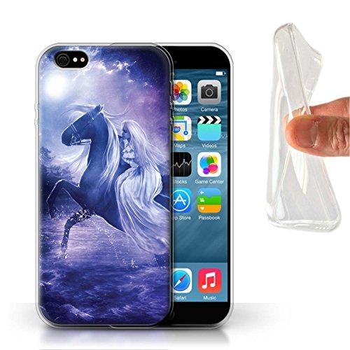 Officiel Elena Dudina Coque / Etui Gel TPU pour Apple iPhone 6 / Épée Magique Design / Super Héroïne Collection Amazona