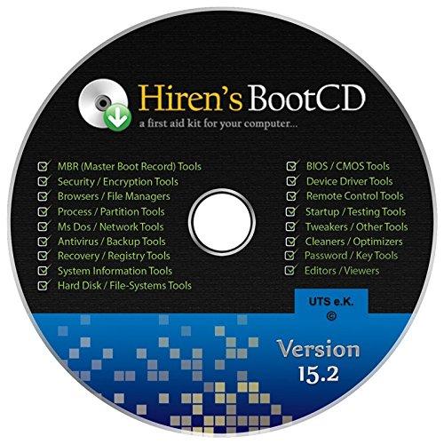 Hiren's Boot-CD Ersthilfe & Notfall-CD für Windows / Linux Betriebssysteme [System-Diagnose- und - 7 Wiederherstellungs-cd Windows