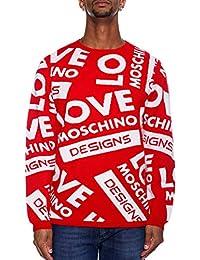 Love Moschino Uomo Maglia Giro Rosso Autunno Inverno Art MSG20 10 X1264 O86  A18 4dfe55c9e04