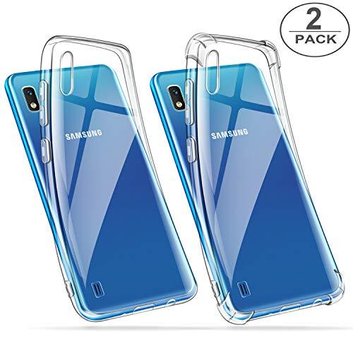 ivencase 2 x Coque Samsung Galaxy A10 Transparente, Souple Silicone Étui Protection avec Coin Renforcé Bumper Housse Clair Doux TPU Gel Cover pour Samsung Galaxy A10