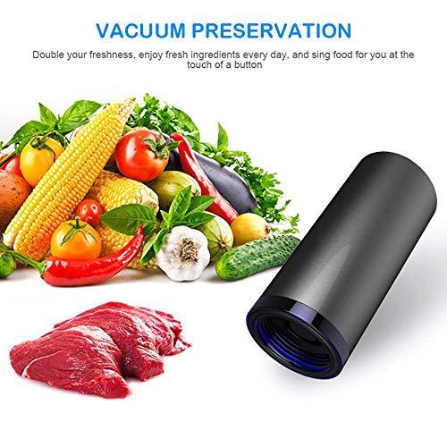 FOONEE Mini Vacuum Vacuum Sealer Machine Automatico, Portable USB Vacuum Pump Elettrico con Space Bag BPA Free, Large Medium Space Saver Bags for Food Clothes Viaggi e Uso Domestico