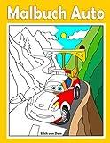 Malbuch Autos: Coole Fahrzeuge im Comic-Stil, wie im berühmten Animationsfilm