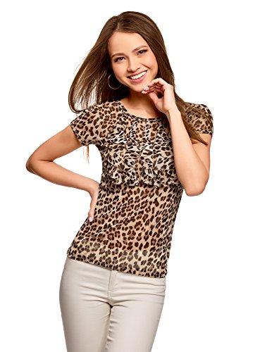 T-Shirt Donna Stampata con Volant