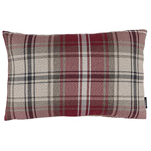 McAlister Textiles Signature Kollektion | Angus rechteckiger Kissenbezug im Tartan-Muster Kariert | 50cm x 30cm in Rot | Deko Kissenhülle für Zierkissen, Sofa, Bett, Couch im Schottenkaro
