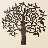 Wandbild - sehr dekorativer Baum aus Metall in braun - 70 cm im modernen Landhausstil
