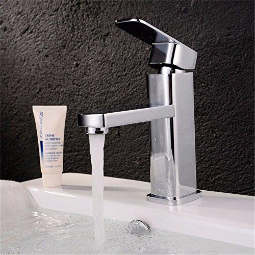 Preisvergleich Produktbild SADASD Robinet de lavaboLavabo à cuvette de surface Vasque à trous simples Robinet de salle de bain à la salle de bain à usage unique (eau chaude et froide)