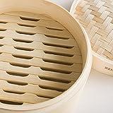 Reishunger Bambusdämpfer (Ø 20 cm), inkl. 2 Baumwolltücher, Für 2 Personen - 3