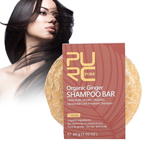 Barre de shampooing, extrait végétal naturel savon à l'huile essentielle shampooing nourrir le cuir chevelu(Ingwer)