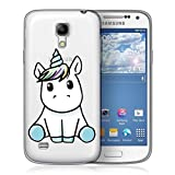 Funda Samsung Galaxy S4 Impresión Linda Unicornio Transparente Claro Case Suave Silicona TPU Flexible Carcasa Anti-choque Anti-rasguño Cover Protectora Espalda Caso
