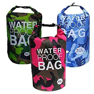 AiO-S - OK Drybag 30L Set Tasche 30 Liter Familienset wasserdicht Packsack Camouflage Kühltasche