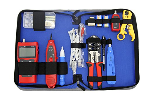 Noyafa NF1503 Network Installation Tool Kits Cable Wire Tester Crimping Cutter Punch Down Tools Kit RJ11 RJ45 Computer Network Repair Kit Wire Strip(not include battery)