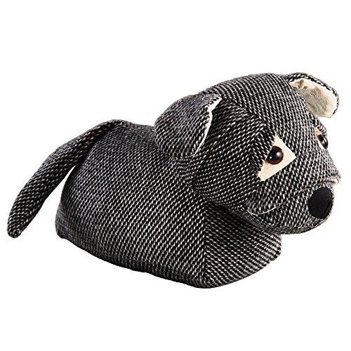 Türstopper DOG - grau - liegender Hund - 26 cm - Doorstop