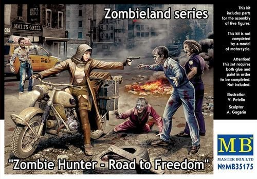 Master Box MB35175 - 1/35 Zombie Hunter - Road to Freedom, Zombieland series
