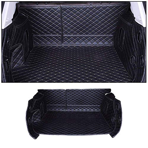 SHUNAN-EU Auto Leder Kofferraum Matte Teppiche Matte Exklusiv für Corolla 14-18 SeitenBodenbedeckung Allwetterschutz, Wasserdichtes, Anti Rutsch Abriebfest Set Black (Kofferraum Matte Corolla)