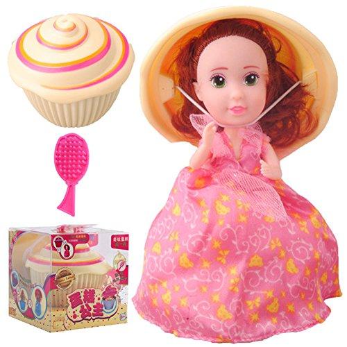 Cupcake Überraschungspuppen Prinzessin Duft, magische Cupcake-Spielzeug für 3 Jahre alte Mädchen, verwandeln sich von einem Kuchen in eine Prinzessin