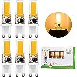 Liqoo® 6x 3W Bombillas LED G9 COB 220V Lámpara Bajo Consumo Blanco Cálido 2800K Ra 83 Ángulo de Visión 360° 280 Lumen Ahorra 90% Energía Reemplaza 30W