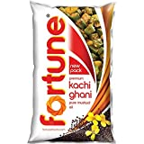 Fortune Kachi Ghani Pure Mustard Oil Pouch, 1L