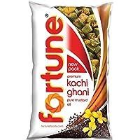 Fortune Kachi Ghani Pure Mustard Oil Pouch, 1L