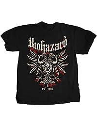 Biohazard - - 2 côtés Crest T-shirt de logo pour hommes