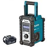 Makita DMR109 10.8v-18v LXT/CXT LI-ion Job Site Radio With BL1850 5.0Ah Battery