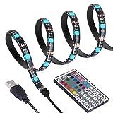 ANSCHE 300CM TV LED Hintergrundbeleuchtung, RGB 5050 led Strip TV Beleuchtung Dekoration LED Band Mit 5V USB Kabel Und RF Fernbedienung Ambientbeleuchtung für 40 bis 60 Zoll HDTV und PC-Monitor