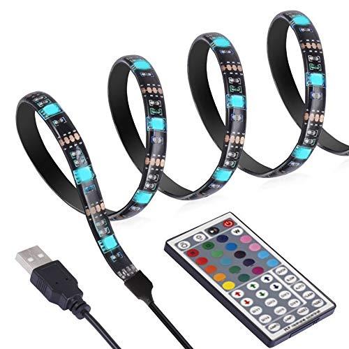 ANSCHE 300CM TV LED posteriore di illuminazione Kit, Telecomando RF 20 colori &modalità RGB 5050 Striscia LED 5VUSB Luminosa impermeabile Flessibile Bias Illuminazione Strip Light per HDTV 50-70'