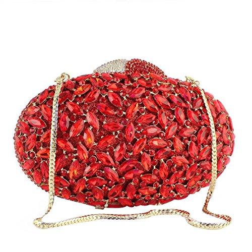 Lady Luxus Abendtasche Hochzeit Kupplung Handtasche C