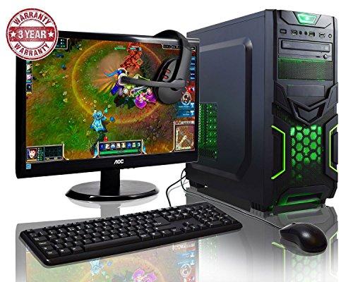 ADMI GAMING PC PAQUETE: Potente ordenador de sobremesa, 21.5 pulgadas