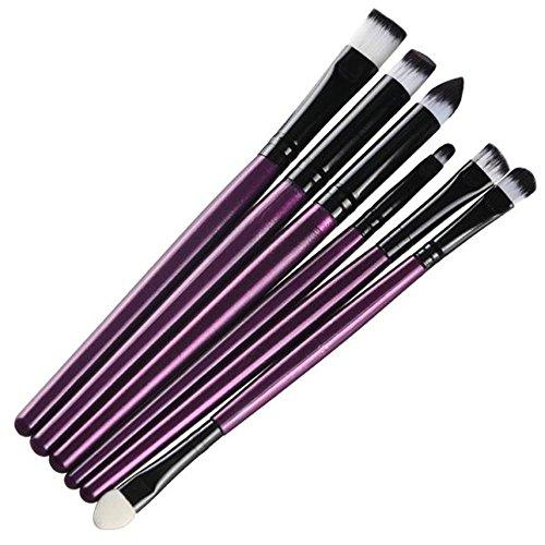 Fami 6 PCS Cosmetic Makeup Brosse à lèvres pinceau, pinceau à paupières,Violet