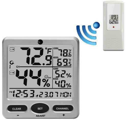 ambient-weather-ws-08-wireless-indoor-outdoor-8-channel-thermo-hygrometer-with-daily-min-max-display