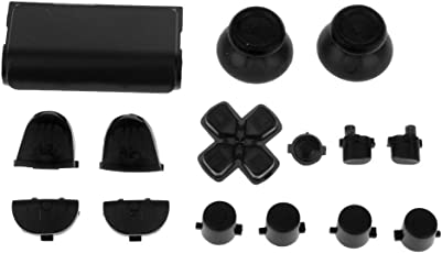 Magideal Button Mod Grip Kit Set for Sony PS4 Playstation Controller Black