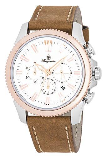 Burgmeister BMT03-985 - Reloj de pulsera hombre, color Marrón