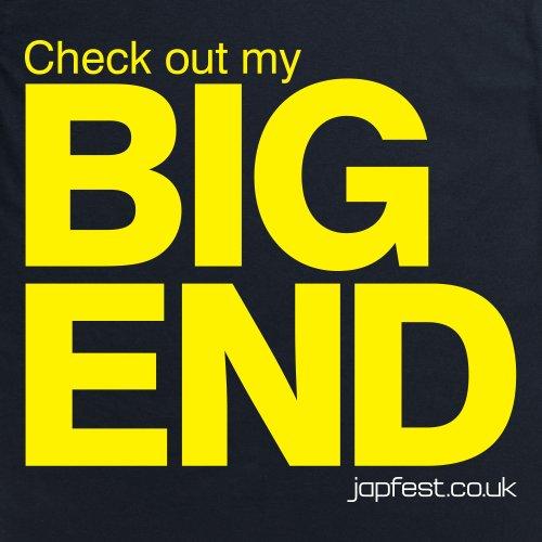 Japfest Big End T-Shirt, Damen Schwarz