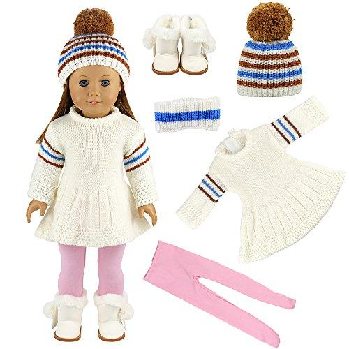 Miunana Abito Vestito Tuta Per Bambola Bambolotti American Girl Dolls (Tuta D'Inverno)