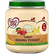 Etapa De Cow & Gate 1 Frasco De Delicioso Yogur De Plátano 125G - Paquete de 6