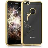 kwmobile Crystal Case Hülle für Huawei P10 Lite aus TPU Silikon mit Fee Design - Schutzhülle Cover klar in Gold Transparent
