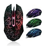 WINWINTOM Los ratones coloridos profesionales de retroiluminación 4000 ppp óptico con cable ratón para juegos